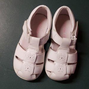 Stride rite Baby Guppy White Leather Sandals